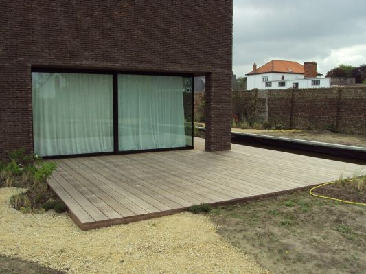 Houten terras vloer