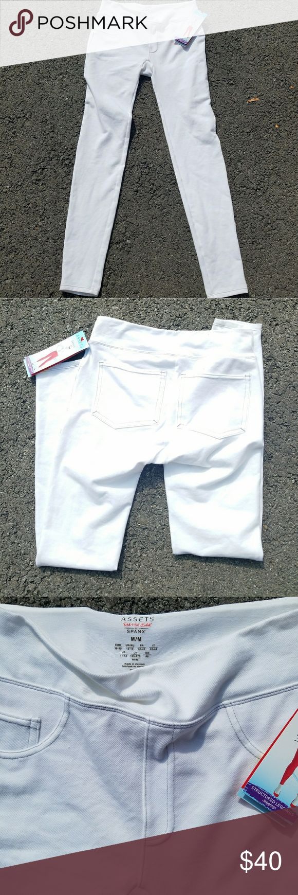 NWT SPANX White Structured Jeggings Size Medium New With Tags. White jeggings by Spanx Womans Size Medium Red Hot Label Structured Leggings SPANX Pants Leggings