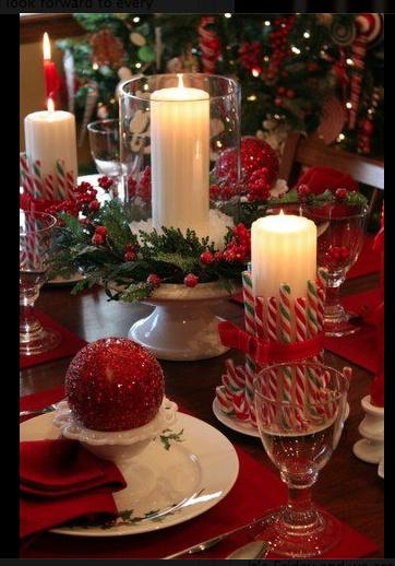 decoraciones para la mesa Navidad