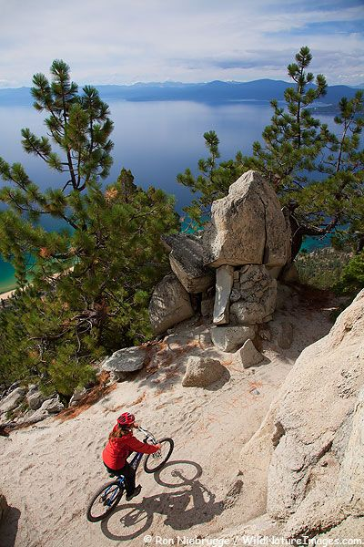Mountain biking Lake Tahoe and the gorgeous views from the Flume Trail.