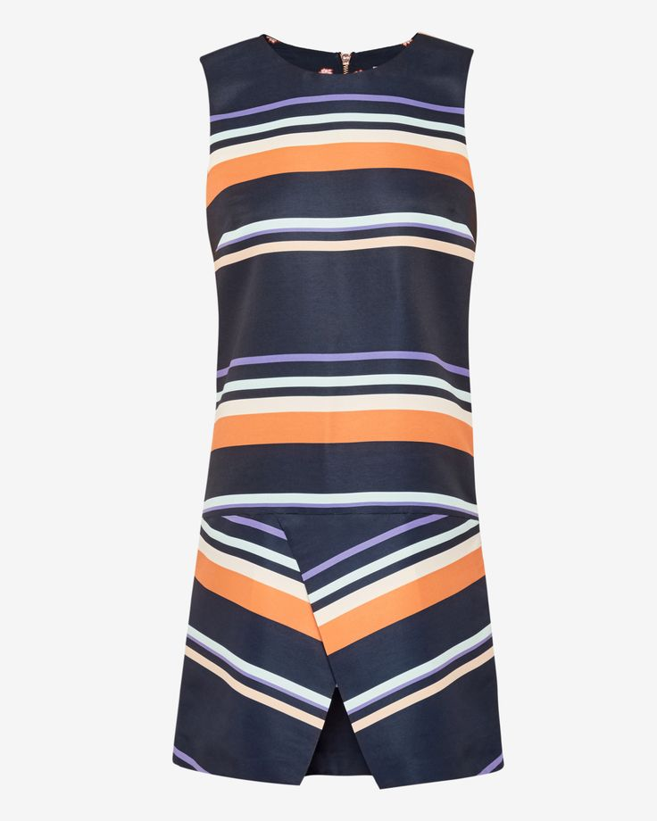 Tribal Stripe fold tunic dress - Navy | Outlet | Ted Baker ROW