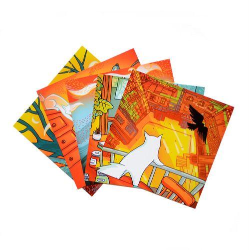 Set of postcards by Miu Mau