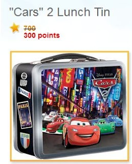 Frugal Mom and Wife: Free CARS 2 Lunch Box with 300 Disney Rewards Points!!
