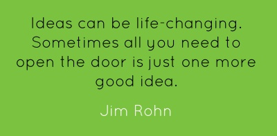Ideas can be life-changing. Sometimes all you need to open...