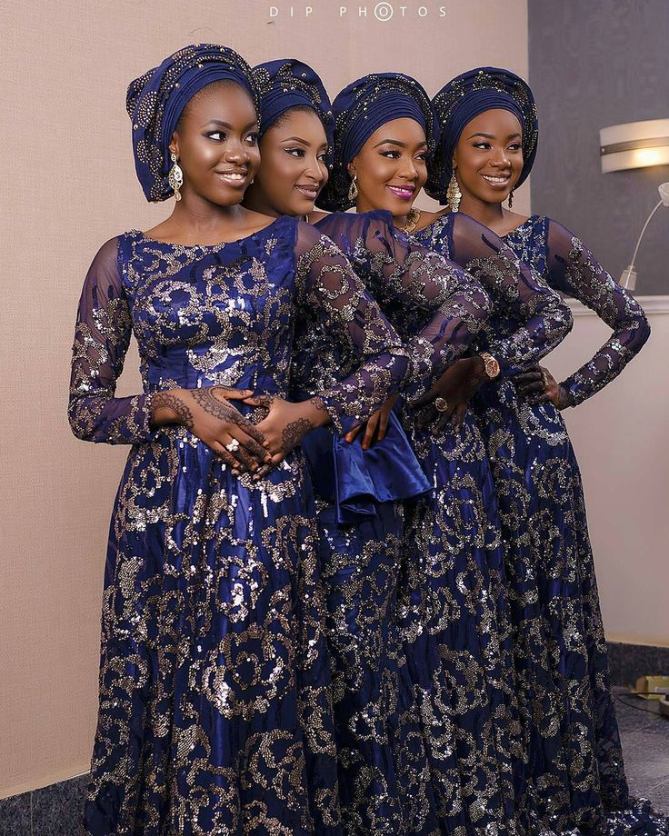"125 Gostos, 1 Comentários - Second Dress Inspiration (@seconddress.ng) no Instagram: ""Sisters that slay together ...💙💙❇❇😍😍 Photography @dipphotos Fabric & veil @aso_ebi_couture Asoke…"""