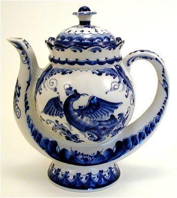 Firebird Teapot from Russia.: