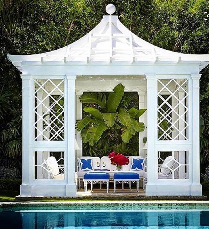 pagoda pool cabana pool house