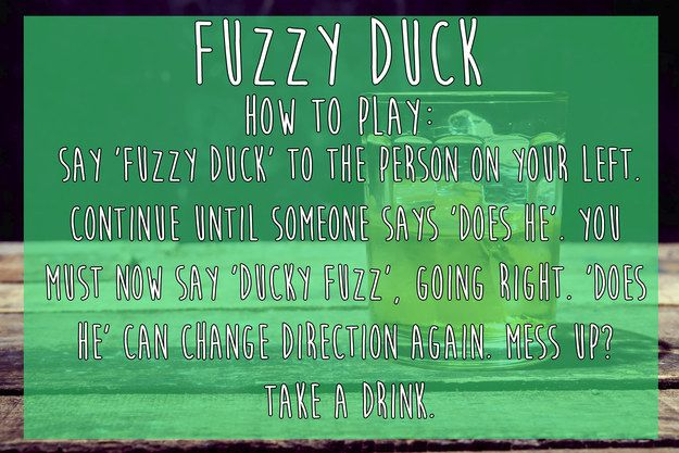 Fuzzy Duck | 15 Simple Drinking Games Every Fresher Should Know