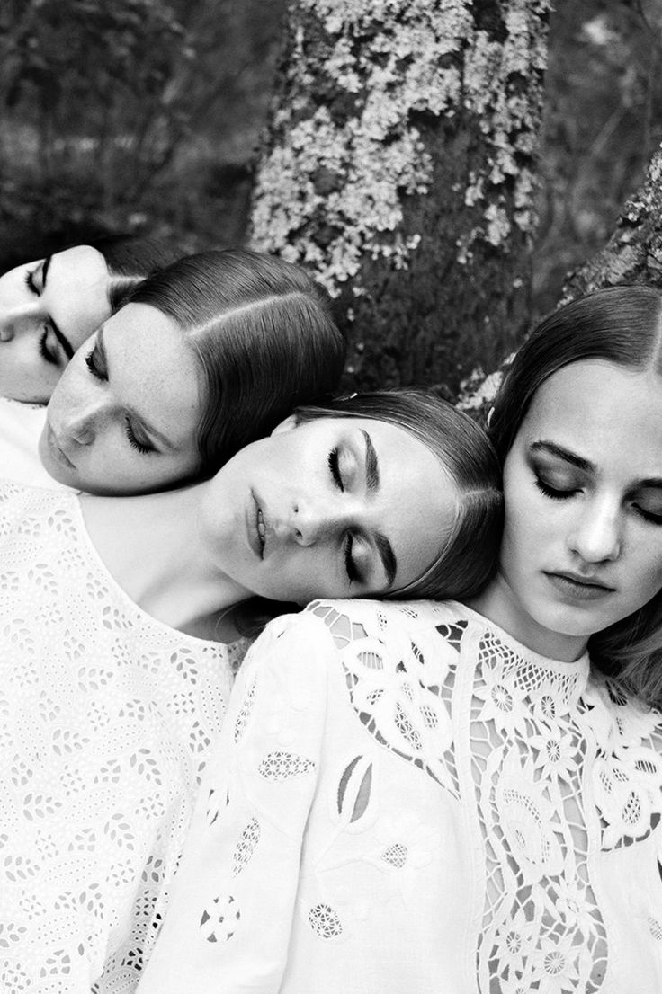Vanessa Moody, Hedvig Palm, Maartje Verhoef and Grace Simmons by Michal Pudelka for Valentino, Spring / Summer 2015.