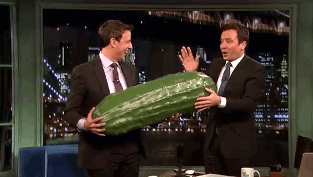 Jimmy Fallon Passes The Late Night Pickle To Seth Meyers