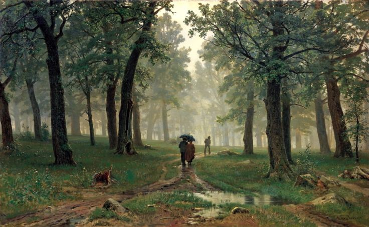 Shishkin Ivan - Rain in the oak forest. 200 Russian painters • download painting • Gallerix.ru