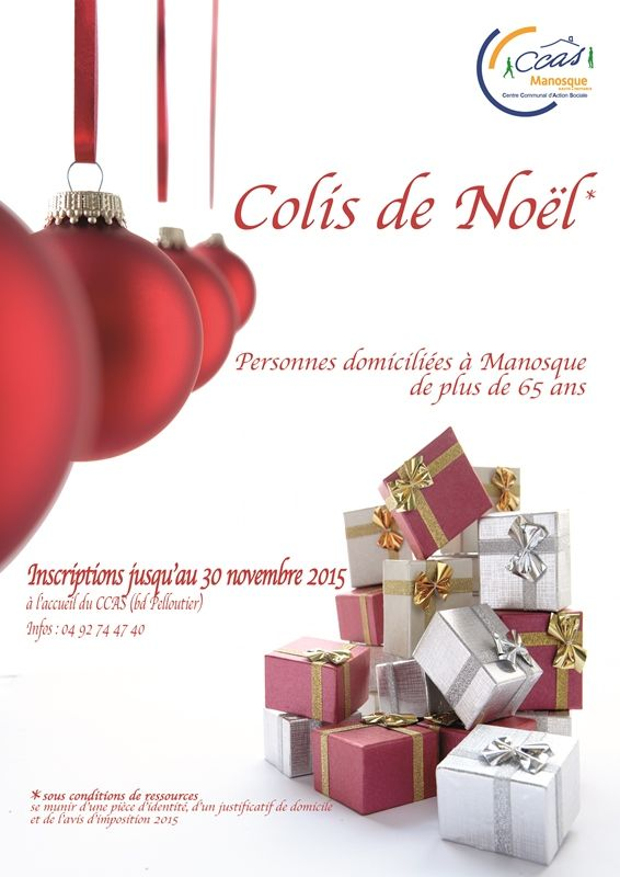 Colis de noël du CCAS de Manosque #noel #colis #manosque