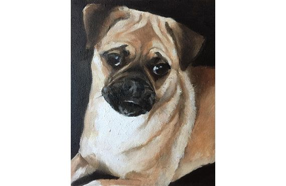 Pug Dog Painting Pug Dog Art Pug Dog Print Pug Dog Art Print