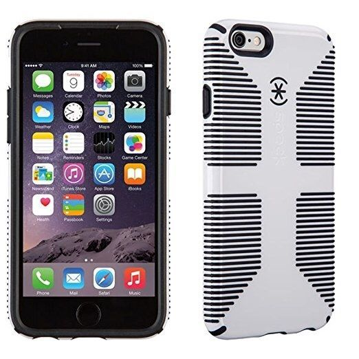 Speck Products CandyShell Grip Phone Case - iPhone 6/6S - White/Black #Speck