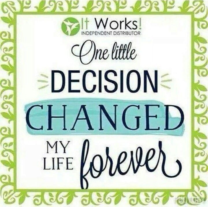 Love It Works so glad I took the leap and joined!! It is definetly changing my life everyday :) Do you want to change your life while getting healthy and even staying home? Message me or email me at regancurtis2615@gmail.