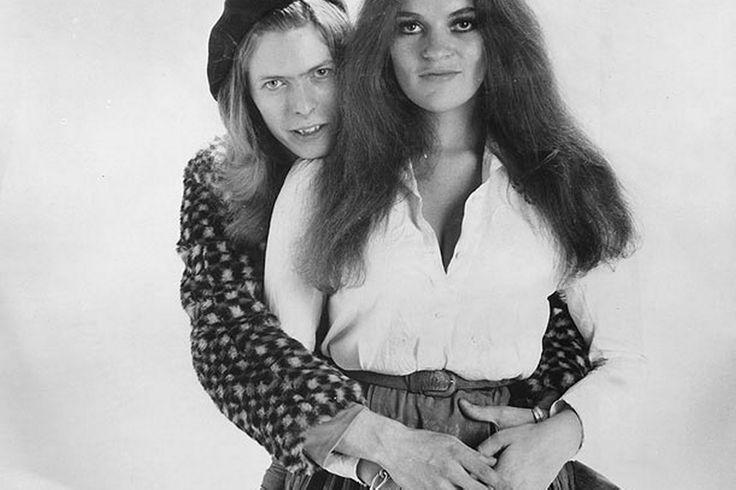 David Bowie and Dana Gillespie