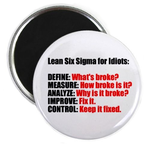 Lean Six Sigma for idiots