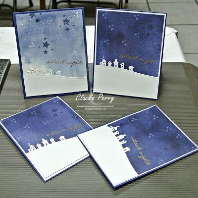 Stampin' Up!, Jingle all the way, watercolor wash