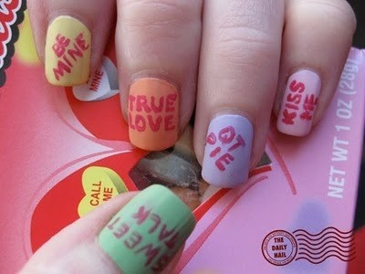 Cute nail idea for Valentine's Day!
