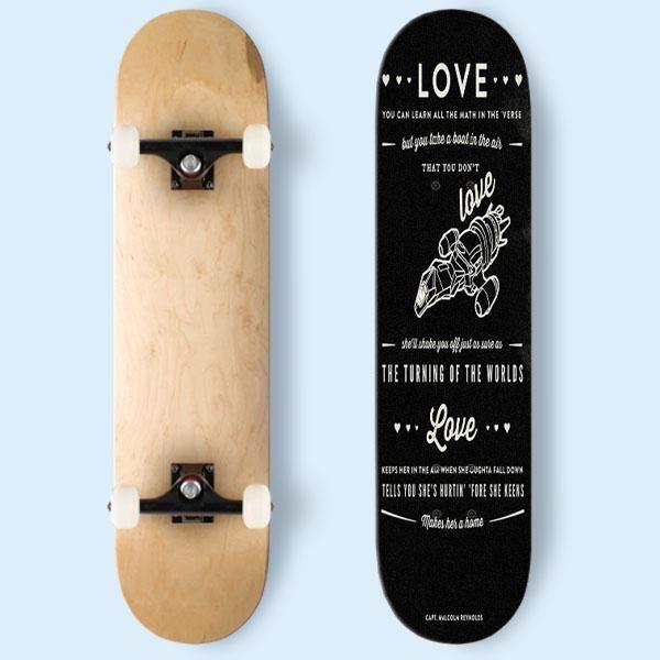 Firefly Serenity Quotes Skateboard | Cozymoshi