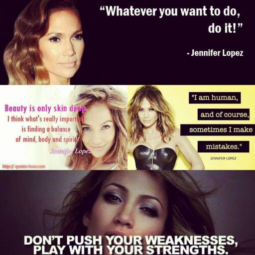 J.Lo Quotes In Frame