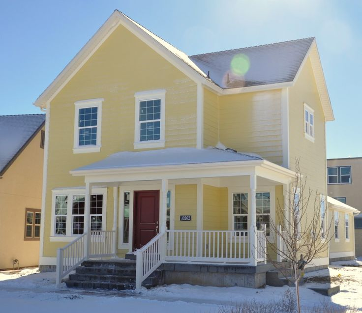 35 best yellow houses images on pinterest for Exterior yellow house paint