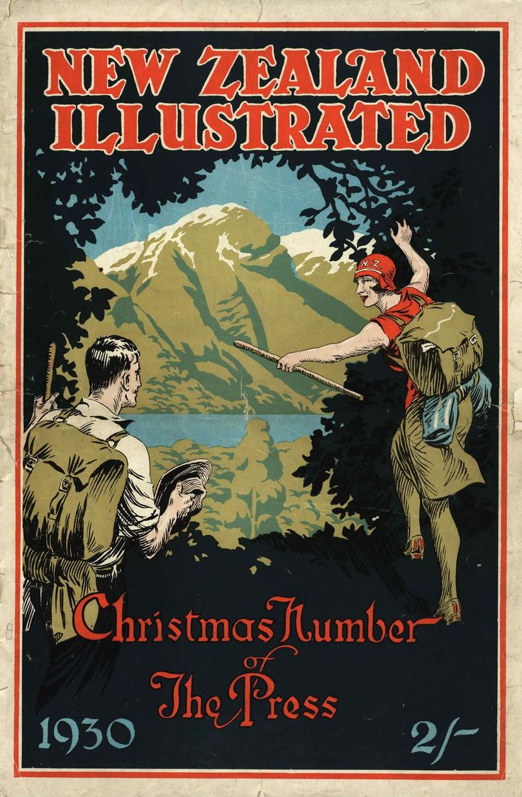 Poster design nz - Nz Illustrated Xmas Issue 1930 Published By The Christchurch Press Company Image Peter Alsop Copy