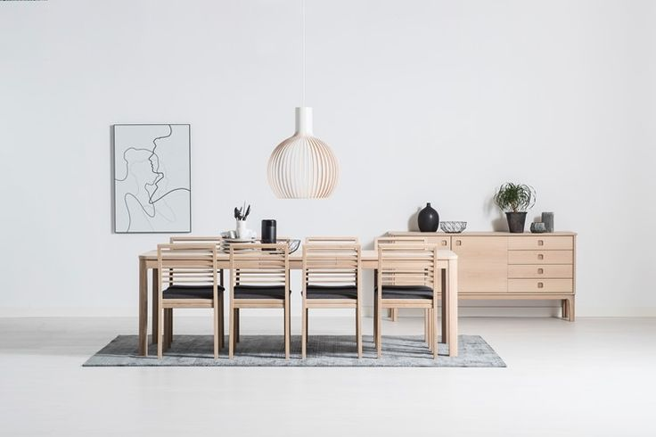 Nyborg bord/matbord - I vitoljad ek - Svenska Hem