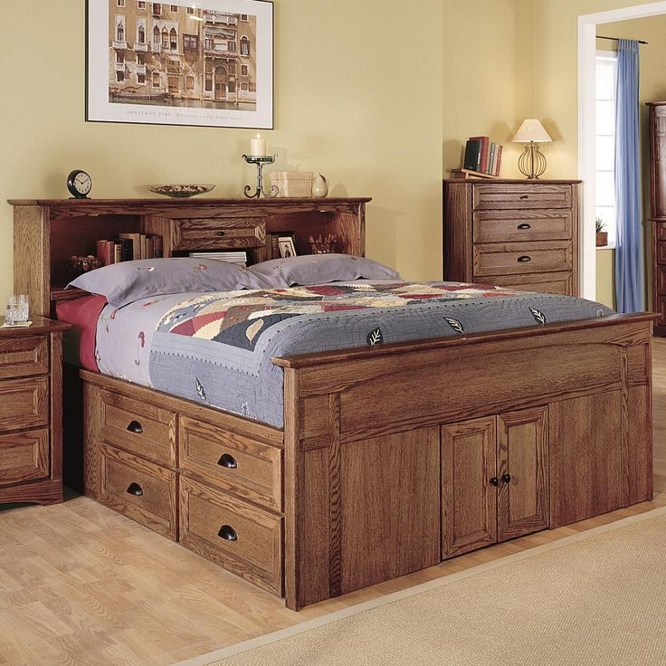 Best 10 Beautiful Queen Captains Bed Plans Bed Frame With 640 x 480