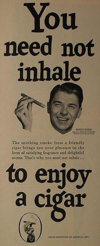 1940s Reagan vintage cigar ad
