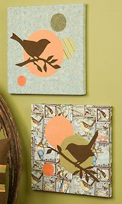 DIY fabric wall art with templates
