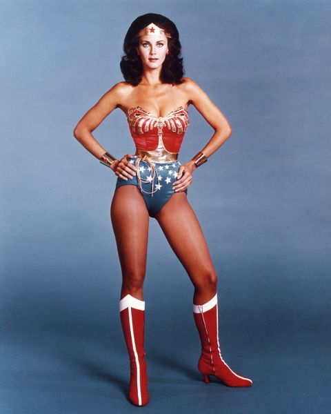 One of my curvy icons of youth...Lynda Carter as Wonder Woman.  Loved that show, and I had a little boy crush on her.