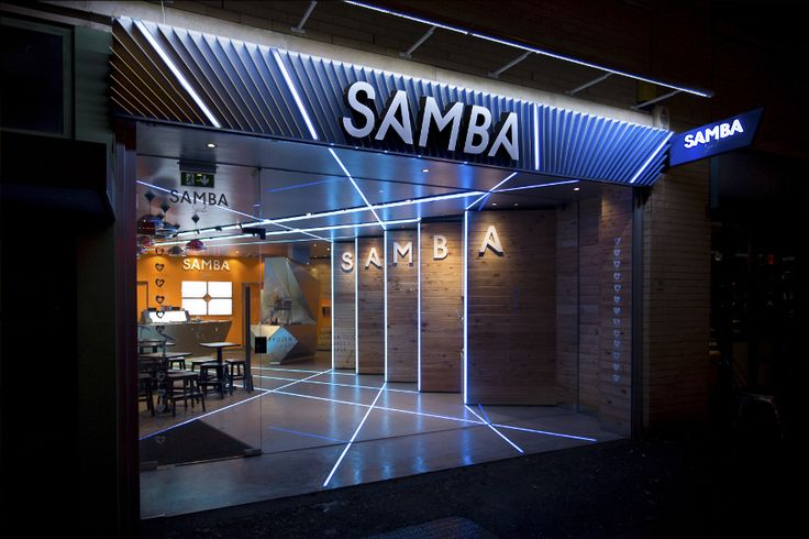 Samba Swirl (Camden) is one of a small chain of frozen yogurt bars. Inspired by the vibrance of Brazilian culture, the bar is alive with light and colour.