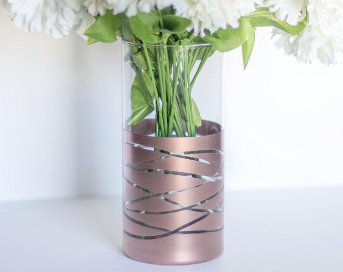 Etsy Your Place To Buy And Sell All Things Handmade Rose Gold Vase Rose Gold Flower Rose Gold Decor