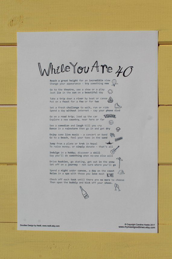 40th Female Birthday Gift A4 Digital Poem Pdf Instant Etsy 40th Birthday Poems 40th Birthday Birthday Resolutions