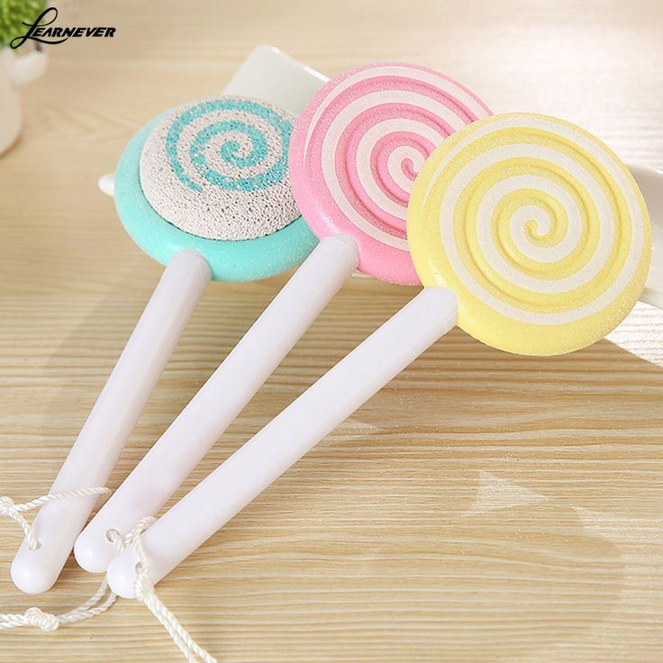 Lovely Candy grinding foot stone Cartoon lollipops grinding foot stone Chamfer calluses double-sided grinding foot stone M02704