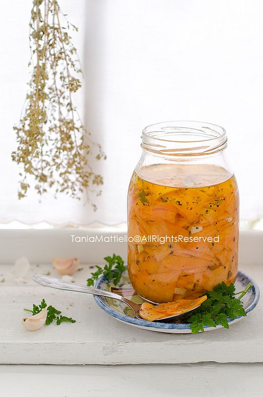 Zucca Marinata in Agrodolce-Marinated Sweet and Sour Pumpkin | Flickr - Photo Sharing!