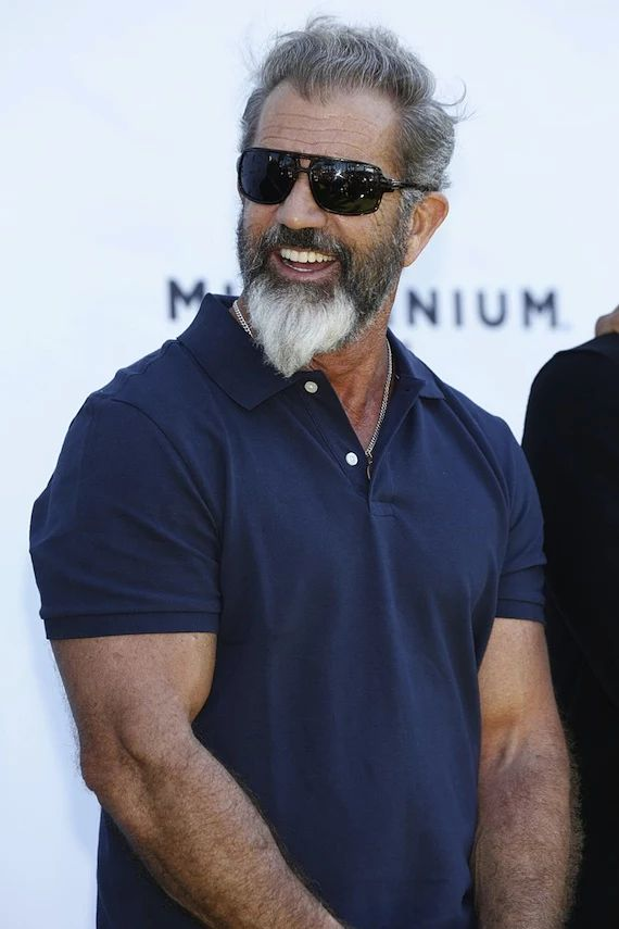 To create this beard, the sideburns are kept short while the hair on the chin area is allowed to grow longer & thicker, shaped into a pointed tip - like a duck's tail. Ideal for oval or heart-shaped faces, though don't let the 'tail' get too long. - Mel Gibson
