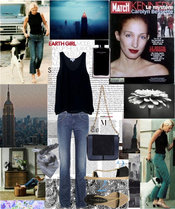 """Carolyn Bessette Kennedy Classic Timeless Style"" by carlamar ❤ liked on Polyvore"