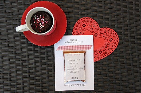 Cake in a cup gift!!!: Holiday, Cake, Valentine Idea, Diy Valentines, Craft, Cups, Valentine Day Cards, Gift Ideas, Valentine S