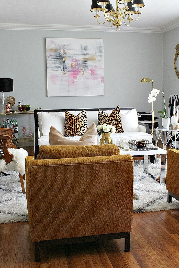 chic apartment decor bliss at home first fall home tour of 2015 glam cozy - Single Wall Apartment 2015