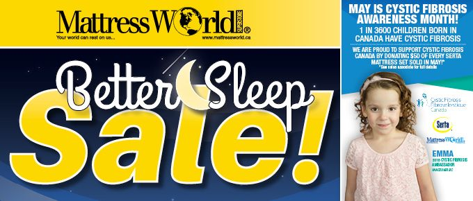 Get a better nights sleep and support Cystic Fibrosis Canada!  Win Win!