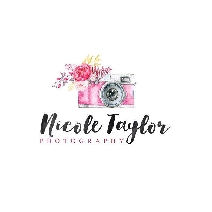 Vintage Camera Logo, Flower Logo, Photography Logo, Small Business Logo, Photographer watermark n033 by RadekLogos on Etsy https://www.etsy.com/listing/244427497/vintage-camera-logo-flower-logo