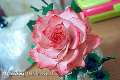 Роза из мастики (мастер-класс)