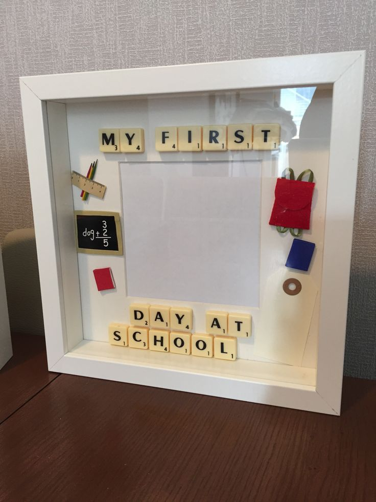 Scrabble framed Art. First day at school. Just need to add your own photo. I'm happy to add tag for name and date etc