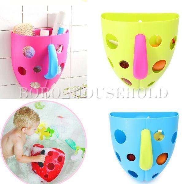 Bath Toy Organizer Storage Bin Toddler Baby Bathroom Bag Kid Net Super Scoop Tub