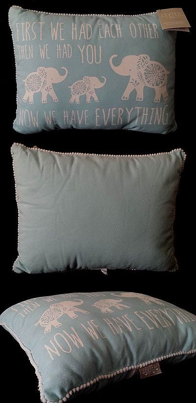 Decorative Nursery Pillows 180906 New Nwt Levtex Baby Pillow Now We Have Everything