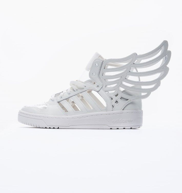 reputable site 71b66 bf616 Good Sell Adidas Js Wings 2.0 Cutout Clear Shoes White