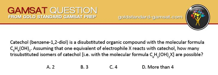 Check the Gold Standard GAMSAT Question of the Day with answer and explanations!