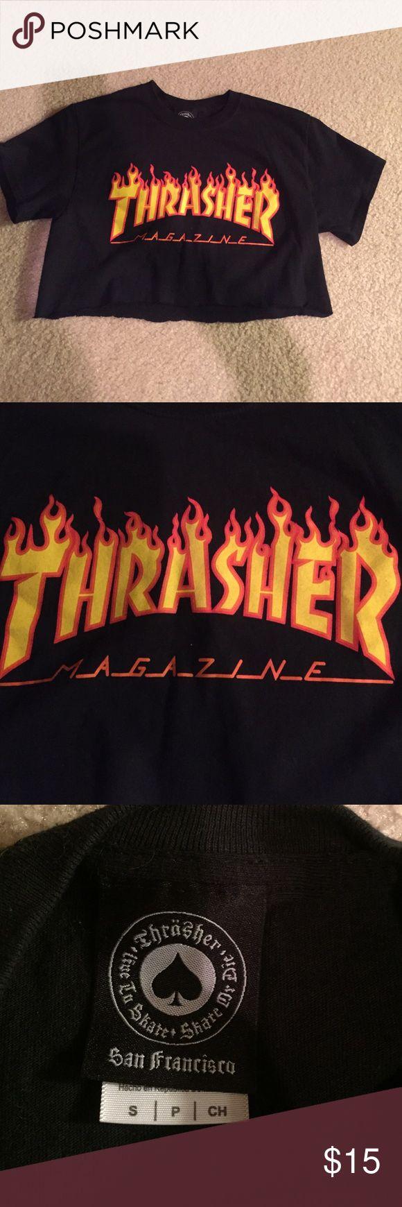 Thrasher crop tee Cute Thrasher crop tee Thrasher Tops Crop Tops